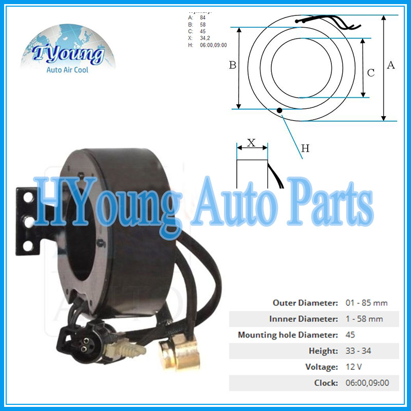 Scroll for Ford Auto air conditioning compressor clutch coil