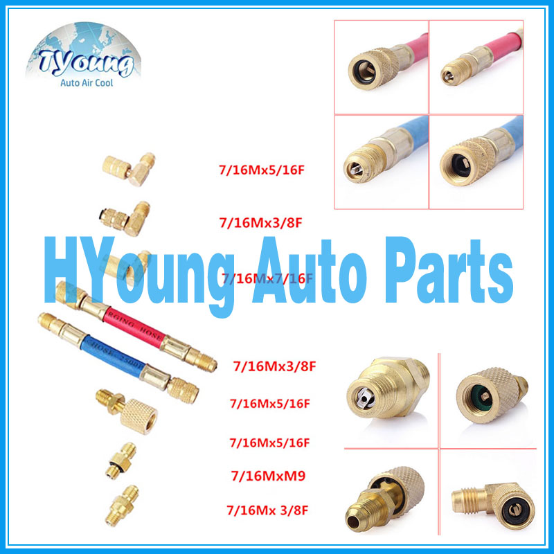 Automotive a/c Refrigeration R134A R12 Connector Adapter Hose