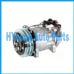 SD7H15 Sanden 4603 4344 4469 4601 Auto a/c Air Compressor fit Ford Sterling F-700 Truck Freightliner 132mm 2pk 12V Vertical HEAD
